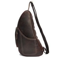 Designer Leather Chest Bag  - Sling Bags https://largepurseshop.com/collections/leather-man-bags/products/designer-leather-chest-bag-sling-bag