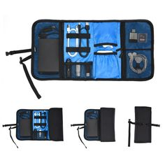a15d57bae Amazon.com  Patu Roll Up Electronics Accessories Travel Gear Organizer Case