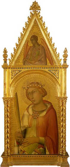 ❤ - SIMONE MARTINI (1285 - 1344) - Saint Catherine of Alexandria and an Angel.
