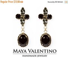 Swarovski earrings Prom jewelry big earrings by MayaValentino