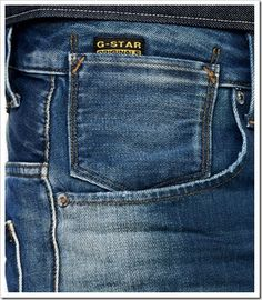 The A-Crotch jeans from G-Star is a Pierre Morriset (head designer) original re-released in a new, more tapered fit. These jeans are inspired by a horse-riding pant and has an extra panel in the inner leg and a dart at the knee for maximum freed Zara Jeans, Denim Jeans Men, Polo Wear, Denim Branding, Denim Fabric, Bermuda, Image, Fashion, Men Jeans