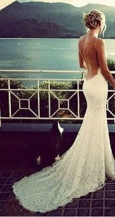 Love her dress! Low swooping back!! Thin Straps! ☆