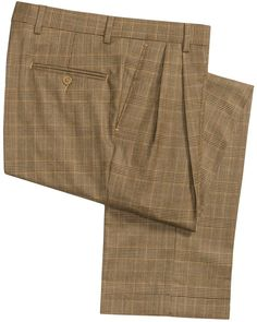 Details about Kirkland Signature Men's Gabardine Wool Pleated ...