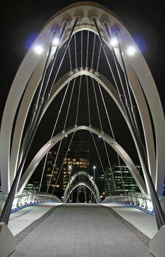 Seafarers Footbridge at South Wharf, Melbourne by Grimshaw Architects