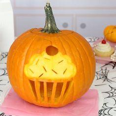 Cupcake Pumpkin - The Coolest Halloween Pumpkin Carving Ideas  - Photos