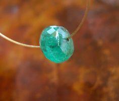Faceted Emerald Bead Rondelle Gem Star by PamelasDesertRocks, $60.00