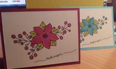 Due card con lo stesso timbro di www.lacoppiacreativa.com. Ho usato i pastelli prismacolor per colorare ...