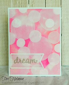 Lawn Fawn - Dream, Thank You Tags, Tag You're It Lawn Cuts die _ beautiful bokeh card by Tori via Flickr - Photo Sharing!