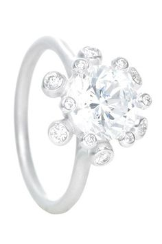 Suzy Landa -18k white gold Firecracker Engagement Ring Setting.