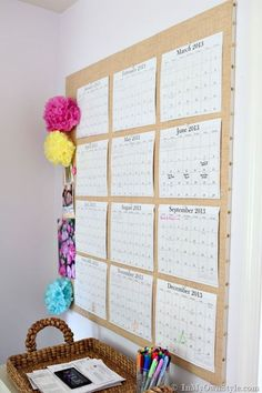 DID large pinball yearly wall calendar