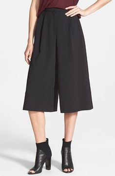 Leith Pleated Culottes available at #Nordstrom