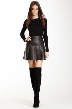 Flare Leather Skirt | Dress Journal