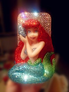 """handmade Swarovski Crystals Disney iPhone case Cute 3D Bling Mermaid Ariel iPhone 5 case iPhone 4 case iPhone 4s case. $34.99, via Etsy."" OMFG"
