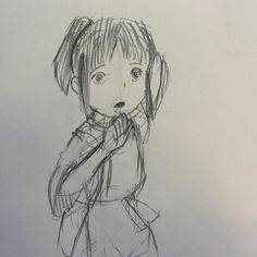 Sketch of Chihiro Ogino from Hayao Miyazaki's spirited away #sketch #sketchbook #manga #anime #studioghibli #hayaomiyazaki #miyazaki #spiritedaway #otaku #animegirl #pencil #pencilsketch #animatedmovie #instaart #instadraw by mechd_h