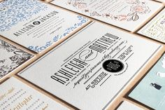 Letterpress Wedding Invitation Collection at minted.com