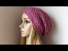 How To Crochet A Raspberry Stitch Hat, Lilu's Knitting Corner Video # 84 - YouTube