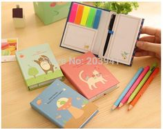 1pcs/lot  Cartoon animals bird cats  Rainbow note Memo Hard cover sticky notes Post it stickers paper Stationery Office school-in Memo Pads from Office & School Supplies on Aliexpress.com | Alibaba Group