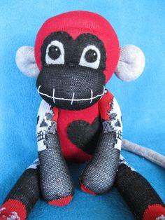 Demonia++Handmade+Sock+Monkey+Plush+Doll+by+REBELalaMODE+on+Etsy,+$40.00