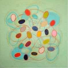 "Price: $2,500  MICHAEL MUT  DNA   Oil on Canvas, 40"" x 40""  Estimated Value: 5,000  Contact: charlotte@rushartsgallery.org"