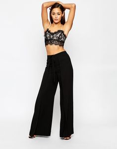 ASOS+Woven+Wide+Leg+Trousers+with+Wrap+Tie+Front