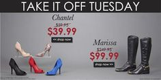 TAKE IT OFF TUESDAY!!! GET CHANTEL FOR $39.99 & MARISSA FOR $99.99!!!