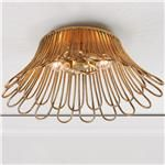 Golden Petals Basket Ceiling Light - Large