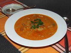 Zöldbabos birkapörkölt leves - Motoros konyhája Soup, Ethnic Recipes, Soups, Chowder