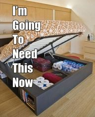 Great storage idea unless you like to move your room around alot