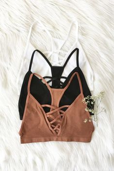 Details Size Shipping • 92% Nylon 8% Spandex • Seamless Lace Up Racer Back Bralette. • Hand Wash • Line dry • imported • XS/S: 32B, 34A, 34B • M/L: 34B, 36A,36B
