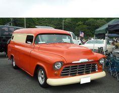 ≪NO.0106≫  ・ニックネーム  RzSpeed      ・メーカー名、車種、年式  シボレーパネルトラック 1957年式     ・アピールポイント  チョップトップ、スーサイドドア、フレンチングアンテナ等・・・  パネルトラックですが、内装もそこそこ仕上がってます。  現在、エンジジを載せ替え絶好調!