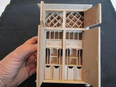 Dollhouse Miniature 1:12 Scale BESPAQ Unfinished Library Cabinet