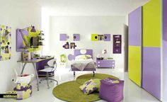 Purple And Green Bedroom Ideas Design Decor Elegant