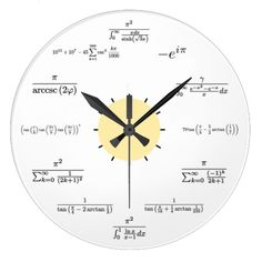 Shop Math Wall Clock created by mathsciencetech. Personalize it with photos & text or purchase as is! Math Clock, Math Wall, Math Quotes, Wall Watch, Physics And Mathematics, Diy Clock, Clock Wall, Math Formulas, Wall Clock Online