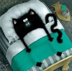 Cute cat illustration,,the artist (and author) is Rob Scotton