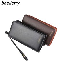 dcef522e787 Baellerry Mens Wallet Phone Bag Alligator PU Leather Double Zipper Men  Wallets Brand Male Clutch Bag Money Holder Card Purse-in Wallets from  Luggage & Bags ...