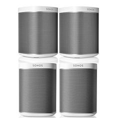 Sonos PLAY:1 Multi-Room Digital Music System Bundle (4 - ... Acoustic Architecture, Sonos Speakers, Sonos Play 1, Class D Amplifier, Outdoor Patios, Music System, Theater, Bathrooms, Audio