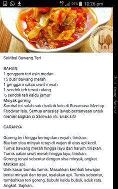 Sambal bawang teri/ikan bilis Indo