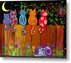 Moonlighting Together Acrylic Print by Nick Gustafson. All acrylic prints are professionally printed, packaged, and shipped within 3 - 4 business days and delivered ready-to-hang on your wall. Choose from multiple sizes and mounting options. Art For Kids, Crafts For Kids, Arts And Crafts, Yard Art Crafts, Summer Crafts, Art Projects Kids, Diy Projects, Art Fantaisiste, Whimsical Art