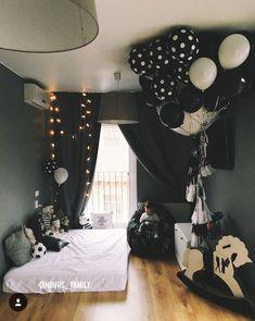 Черно-белые шары в подарок на день рождения мужчине | White black big balloons best man in the world birthday party ideas