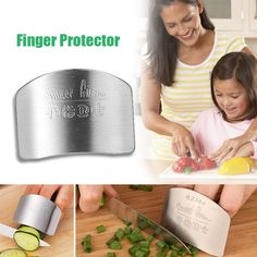 New Kitchen Portable Stainless Steel Hand Guard Finger Protector Knife Slice Chop Safe Slice Kitchen Tool #55301  Price: 1.40 USD