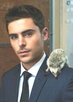Zac Efron.... And a hedgehog