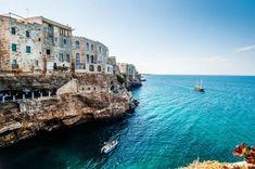 View of Polignano a Mare - Cliff House, in Puglia, Italy
