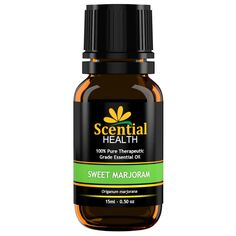 Scential Health Sweet Marjoram Essential Oil 15ml (.5oz) 100% Certified Pure Therapeutic Grade Essential Oil With No Fillers, Bases or Additives AND ZERO Carrier Oils * Check this awesome image  : aromatherapy essential oils