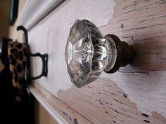 Antique Glass Doorknob Coat Rack on Reclaimed by RustyTinRoof, $47.00