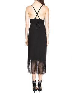 Last Dance Black Fringe Dress