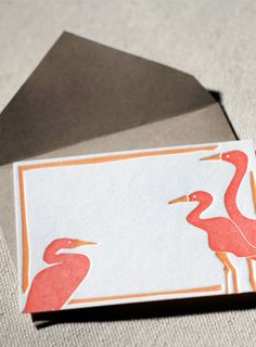 Herons gift tags | Smock | eco stationery