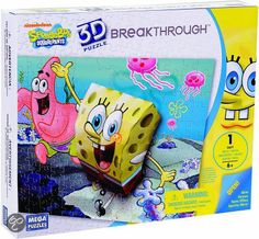bol.com | Mega puzzles 3d puzzel breaktrough - spongebob squarepants level 1 | Speelgoed...