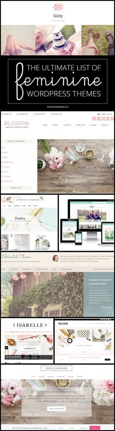 The prettiest feminine themes for your blog!