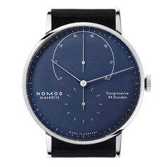 Lambda deep blue sapphire crystal back | Beautiful watches purchased online. Directly from NOMOS Glashütte.