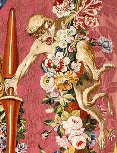 Monkey (detail) from Sancho's Feast on the Isle of Barataria, Gobelins Tapestry Manufactory, 1770-72